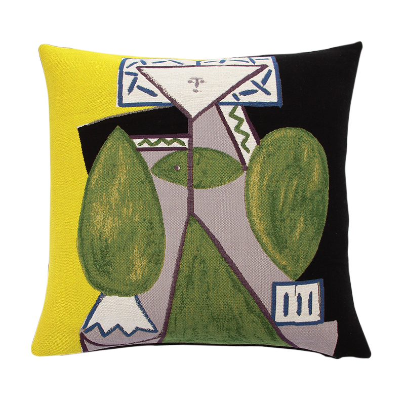 【cushion cover campaign 対象品】 PICASSO WOMAN IN GREEN CUSHION COVER