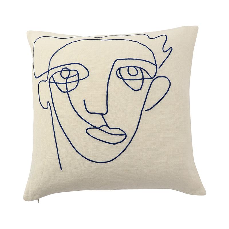 【cushion cover campaign 対象品】 SPIRAL FACE CC COBALT 45X45
