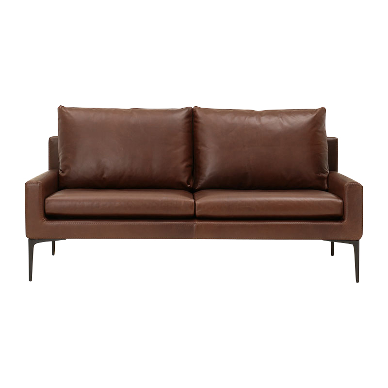 ELSA 2S SOFA STONEWASH LEATHER BROWN