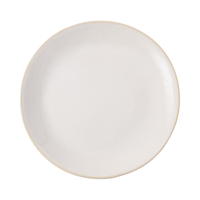 ORGANIC SAND WHITE DINNER PLATE 28CM