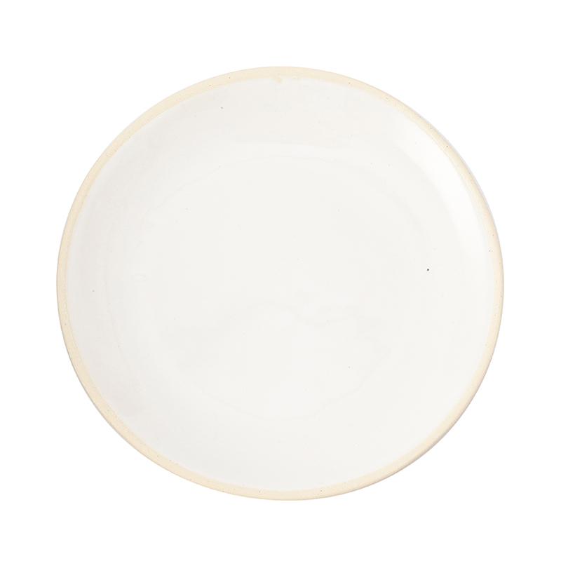 WONKI WARE ORGANIC SAND WHITE SIDE PLATE 19CM