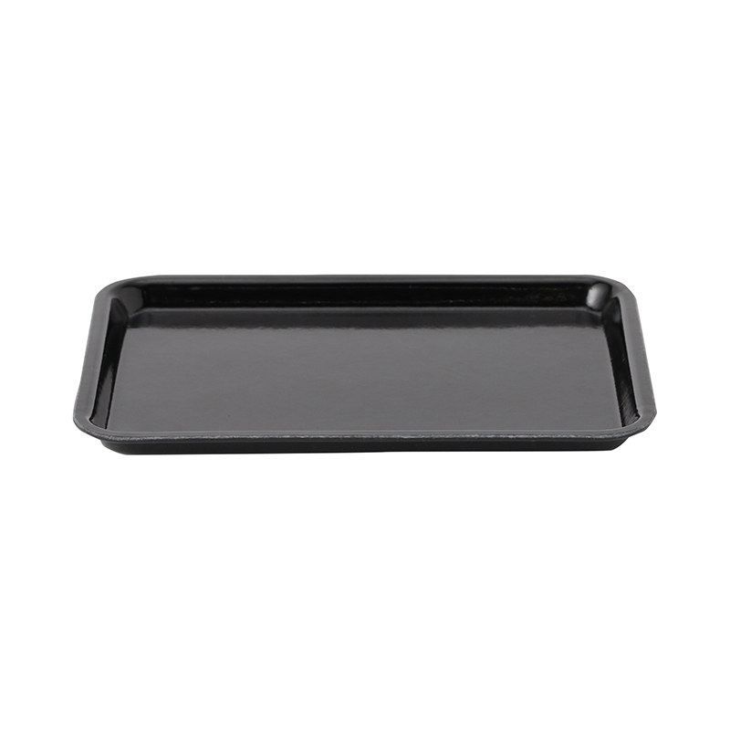 BLACK MINI RECT TRAY 18 X 12CM