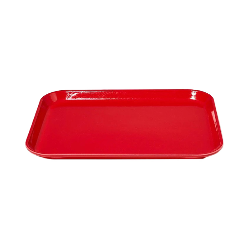 RED MEDIUM RECT TRAY 27 X 35CM