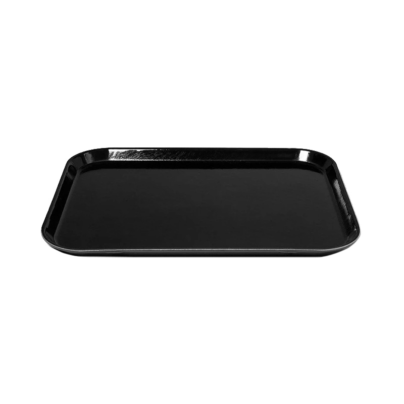 BLACK LARGE RECT TRAY 35.5 X 45.7CM