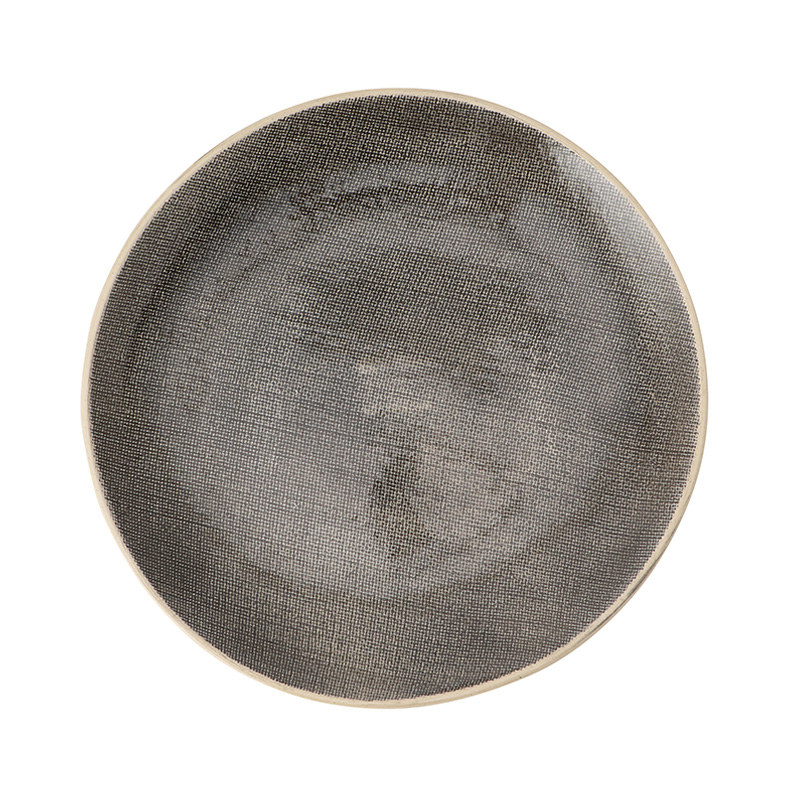 WONKIWARE CROSS HATCH BLACK DINNER PLATE 28CM