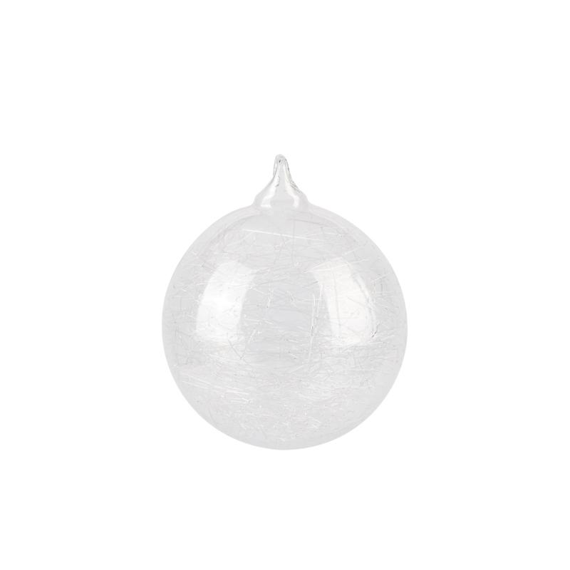 CLEAR BALL TEARDROP W GLASS SHREDS ASST_002