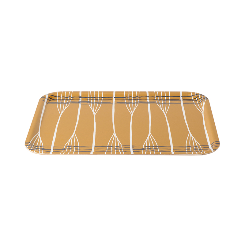FORMPRESS TRAY LARGE  ABSTRACT LINES OCHRE