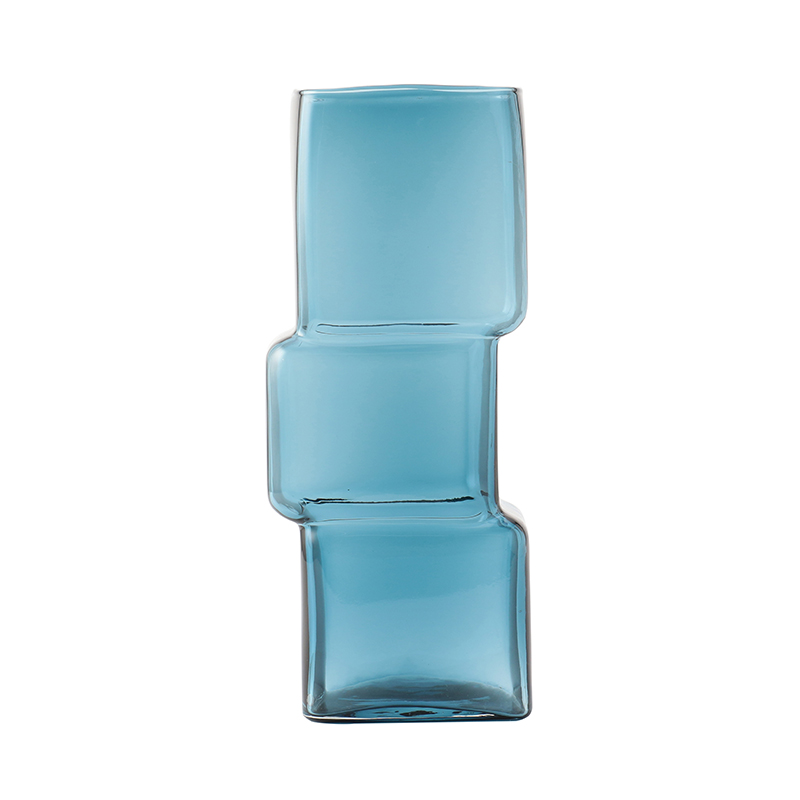 CUBED VASE BLUE TALL