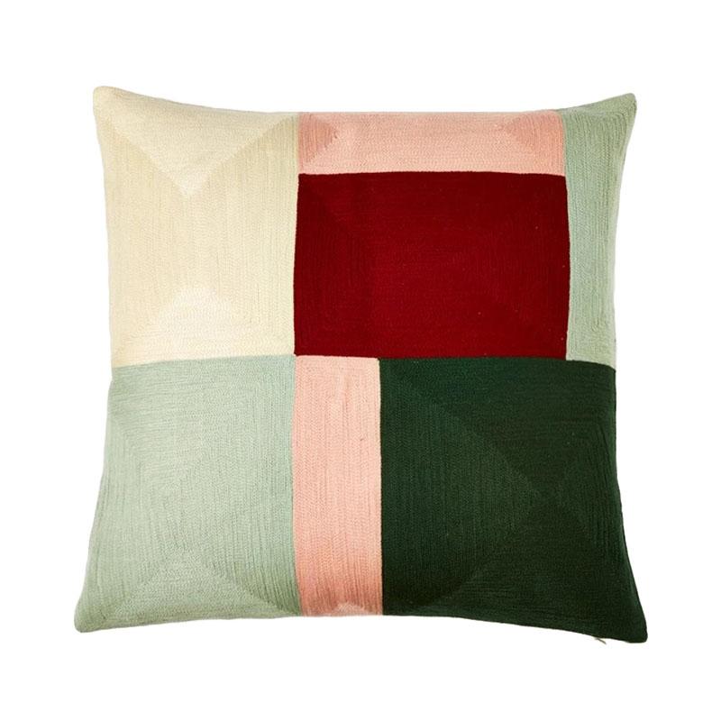 【cushion cover campaign 対象品】 ORIGINAL BLOK CREWEL CC 45X45 BERRY