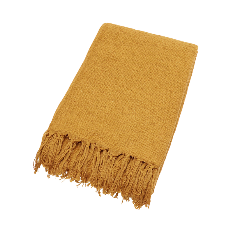 ORIGINAL SLUB COTTON THROW 150X200 OCHRE