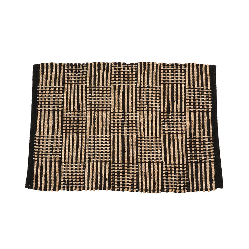 MULTI GRID JUTE RUGS 50X 70 BLACK