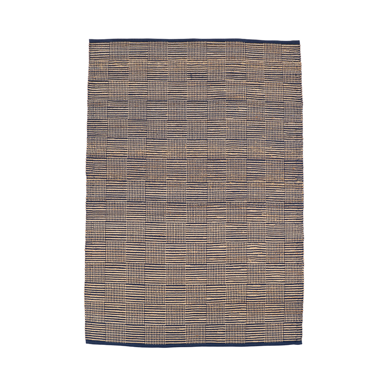 MULTI GRID JUTE RUGS 170 X 240 BLUE