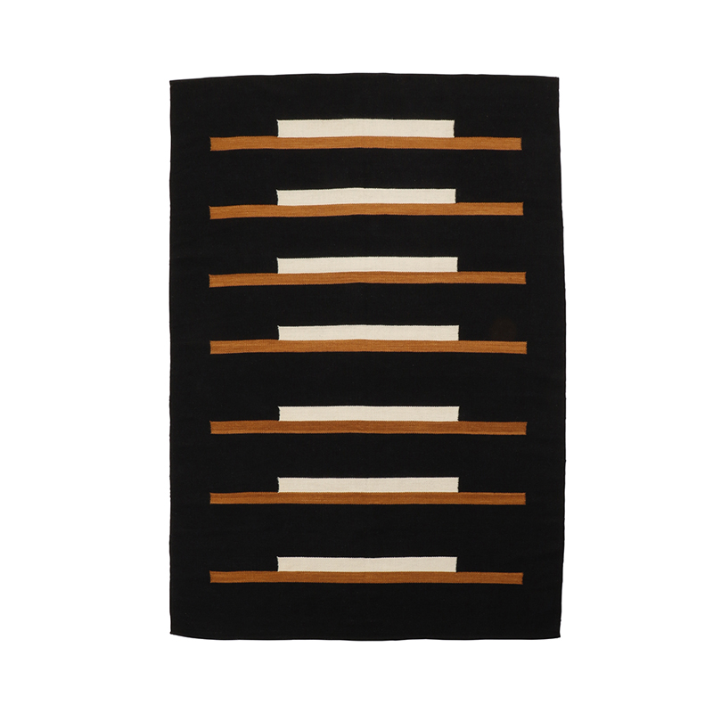 LINES RUGS 170X240 BLACK AND NATURAL