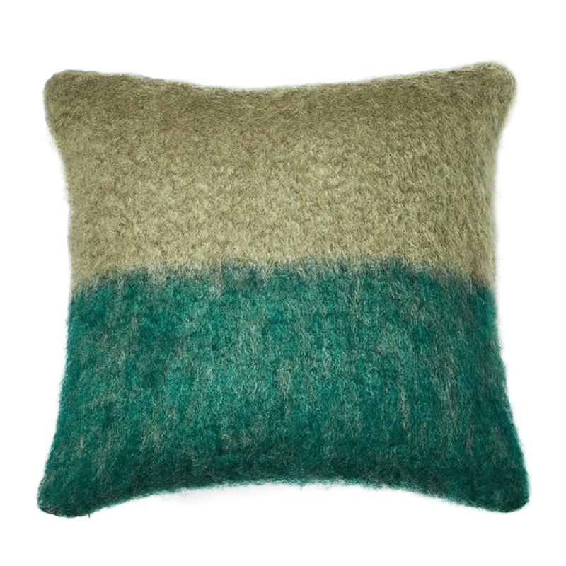 【cushion cover campaign 対象品】 MOHAIR COLOUR BLOCK CC 50X50 SAGE/GREEN