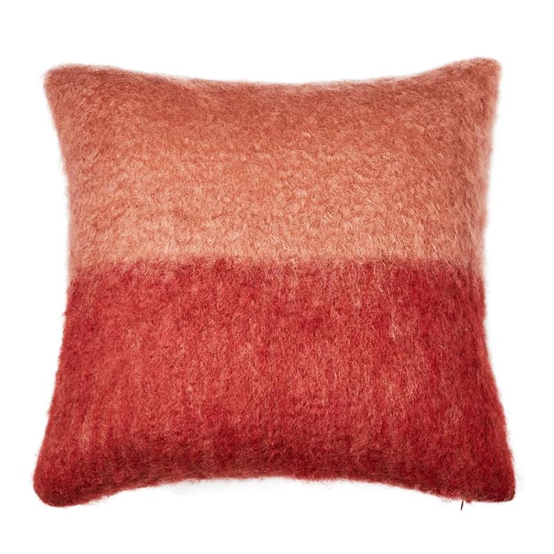 【cushion cover campaign 対象品】 MOHAIR COLOUR BLOCK CC 50X50 PINK/ORANGE