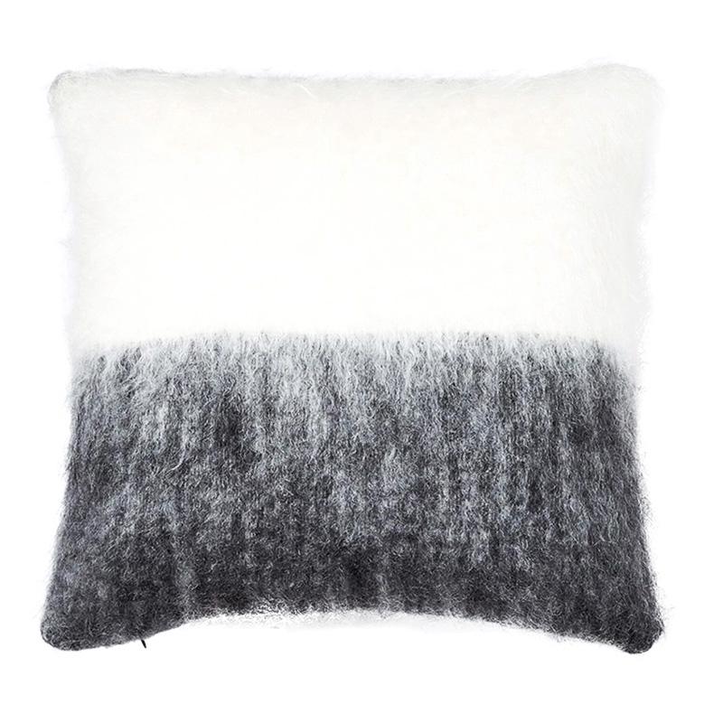【cushion cover campaign 対象品】 MOHAIR COLOUR BLOCK CC 50X50 GREY/WHITE