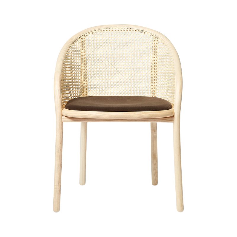 LATIS CHAIR NATURAL ASH FRAME/DURO VELVET CAFFE SEAT