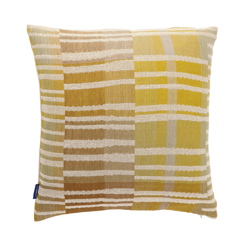 DELPHI LINEN/SILK CUSHION CONER 45X45 YELLOW