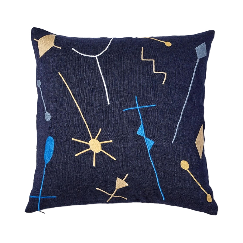 CENA EMBROIDERED PATTERN CC 45X45 NAVY