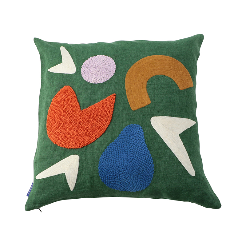 LAGO EMBROIDERED CC 45X45 GREEN