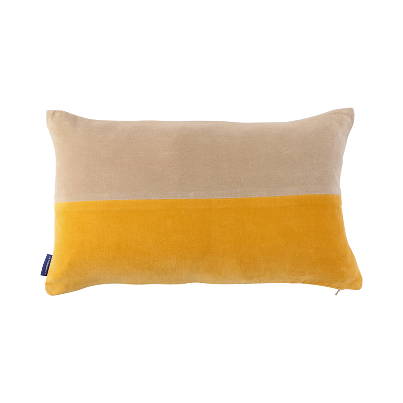 2 TONE VELVETCUSHION COVER 30X50 LEMON