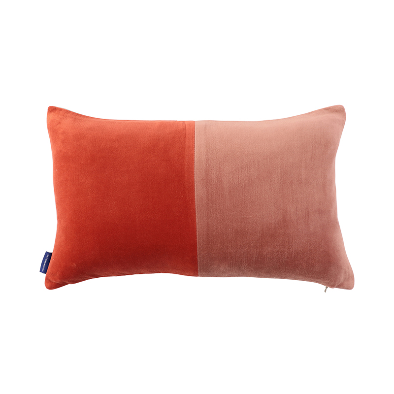 2 TONE VELVET CUSHION COVER 30X50 PINK/RED