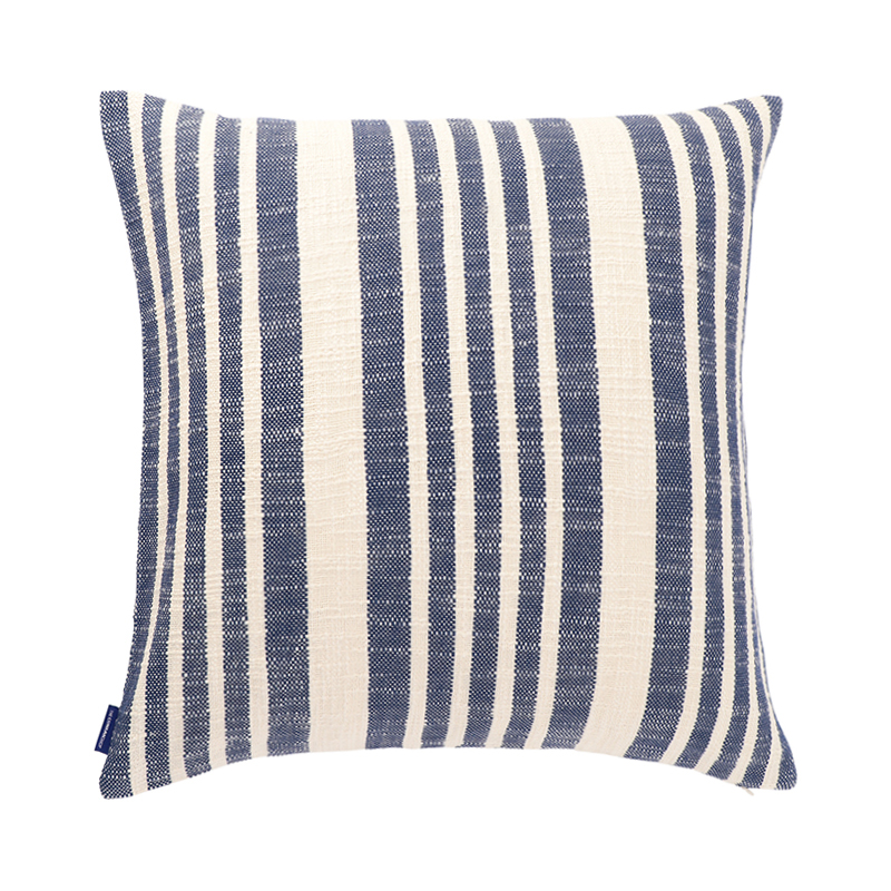 WOVEN STRIPE CUSHION CONER 50X50 BLUE