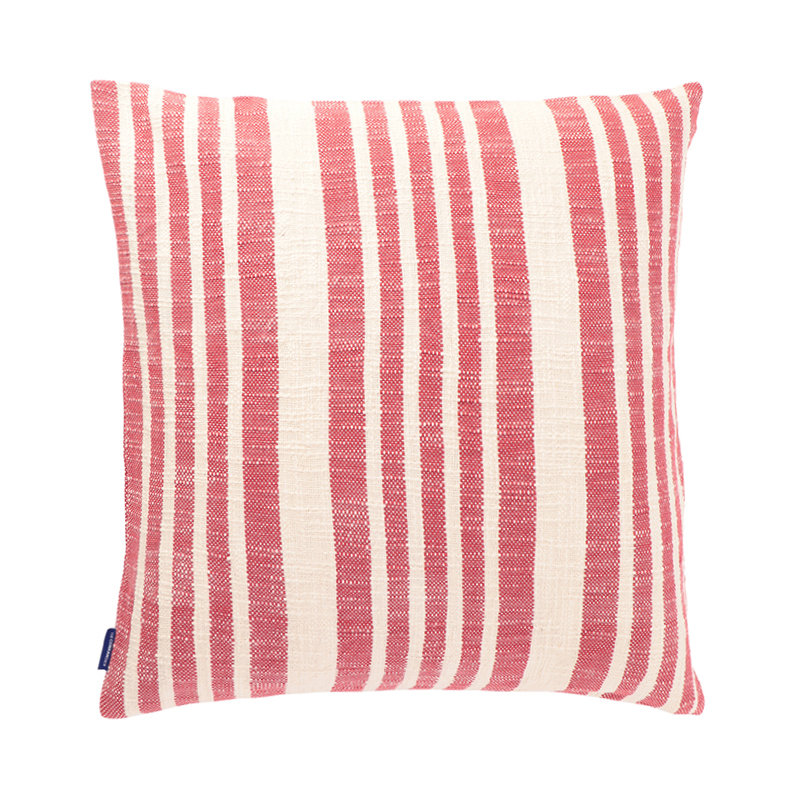 WOVEN STRIPE CUSHION CONER 50X50 RED