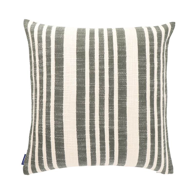 WOVEN STRIPE CUSHION CONER 50X50 GREEN