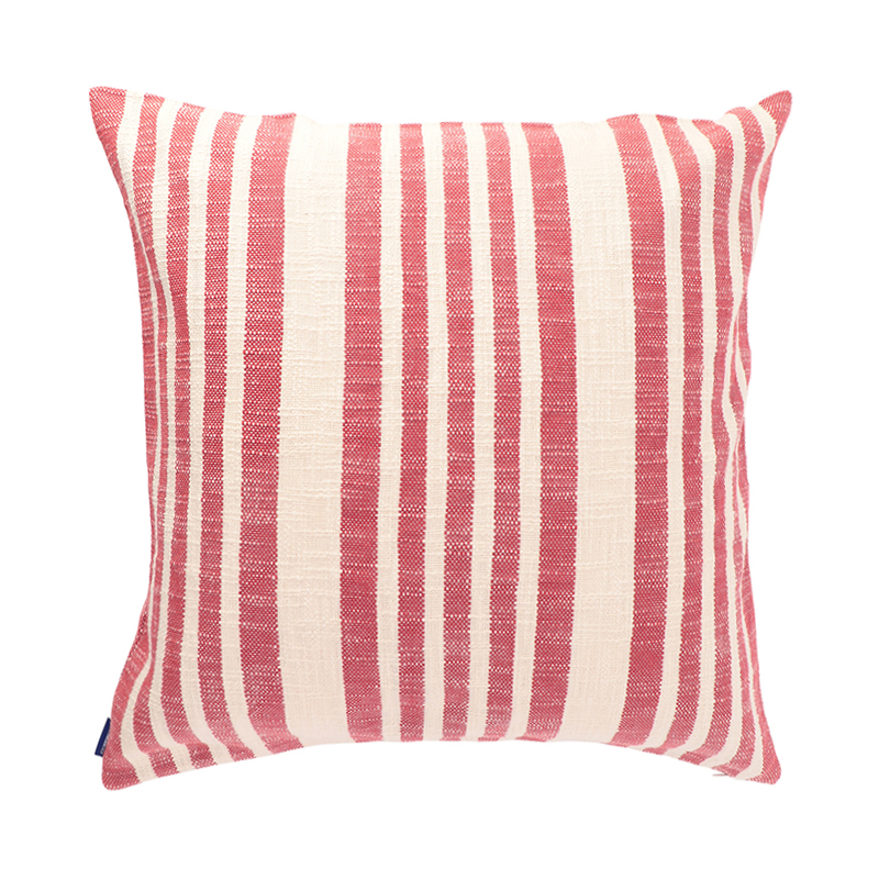 WOVEN STRIPE CUSHION CONER 59X59 RED