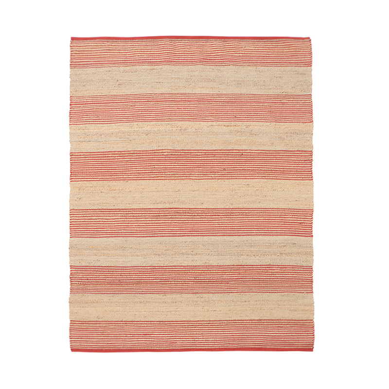 JUTE STRIPE RUG 170X240 ORANGE