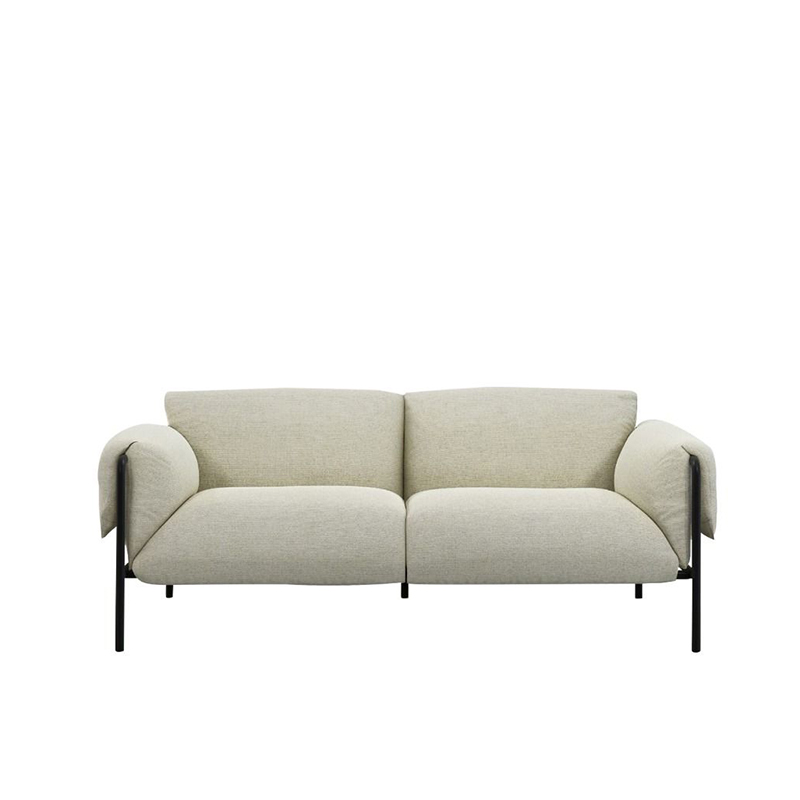 FOLD 2S SOFA WITH ARMS TEXTURE WEAVE SMOKE