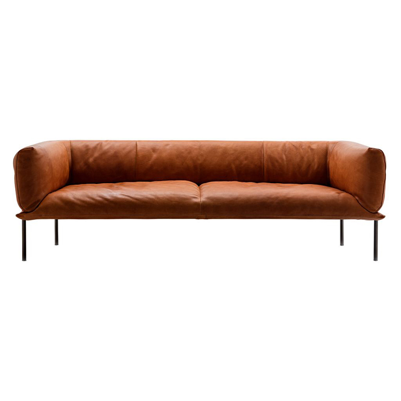 RONDO 3S SOFA P803-04 TEGOLA TAN LEATHER