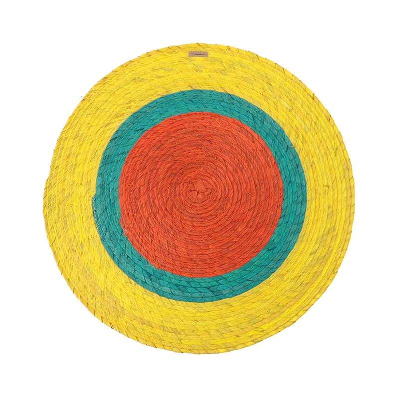 TRIPLE ROUND PLACEMAT YELOW/AQUA/NARANJA