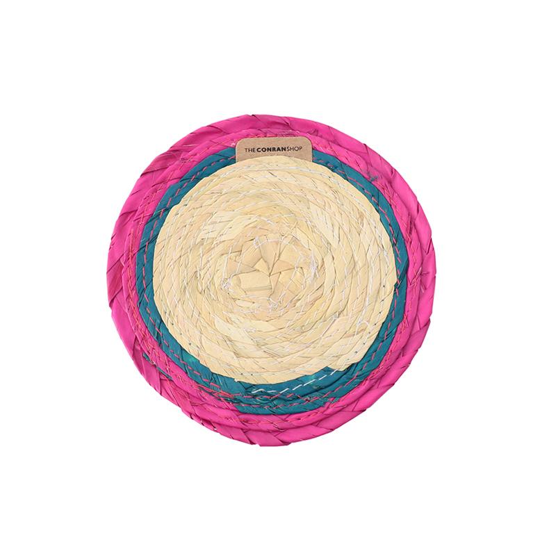 BLOCK ROUND COASTER PINK/TURQUESA