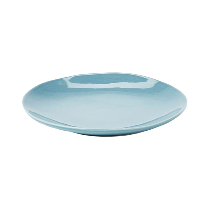 PINTURA WASHED SIDE PLATE IN STONE BLUE