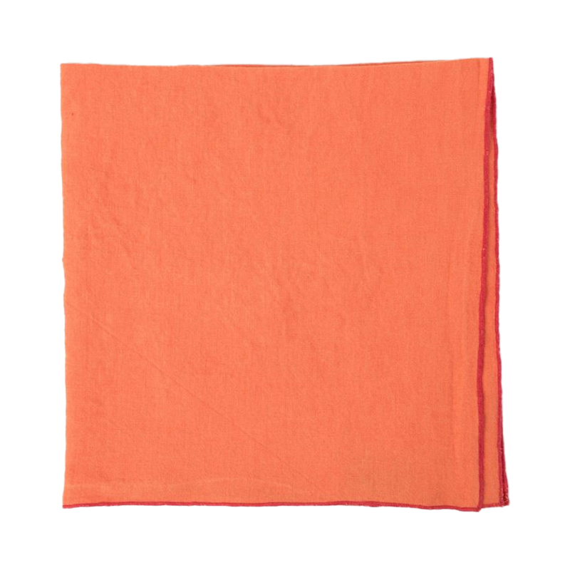 BABY OVERLOCKNAPKIN ORANGE/BUBBLEGUM47X47