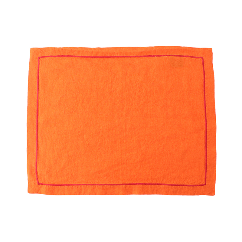 BABY OVERLOCK PLACE MAT ORANGE/BUBBLEGUM36X48