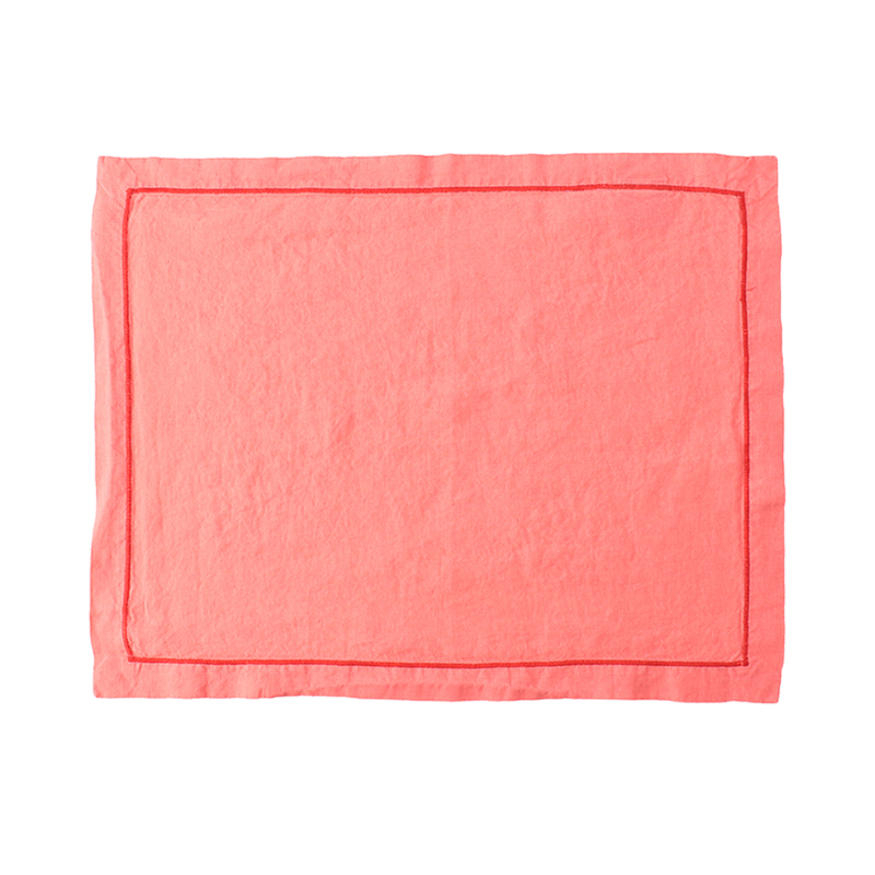 BABY OVERLOCK PLACE MAT PINK/TOMATO36X48