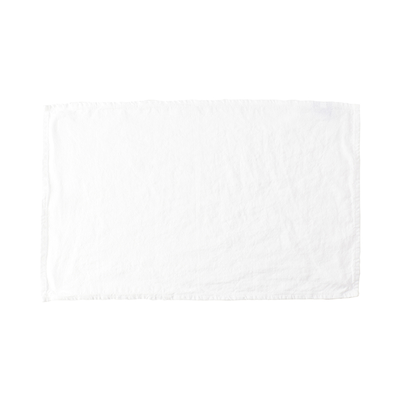 LINEN TEA TOWEL WHITE 35X60
