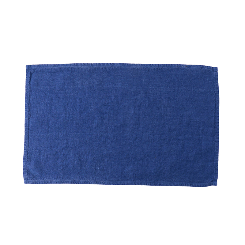LINEN TEA TOWEL WORKWEAR BLUE 35X60