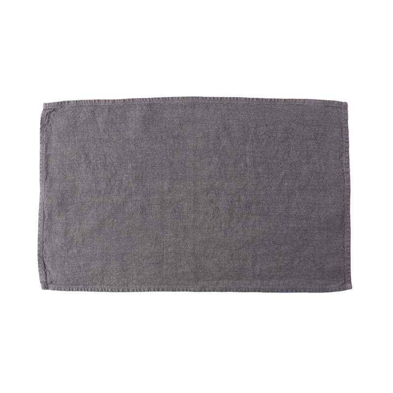 LINEN TEA TOWEL SLATE 35X60