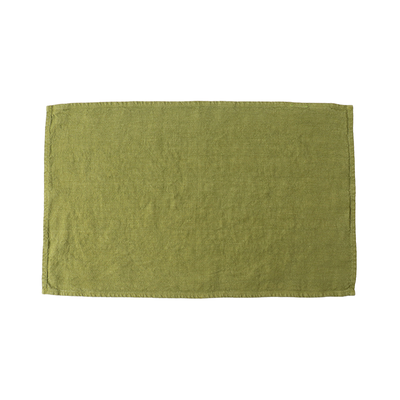 LINEN TEA TOWEL LEAF 35X60