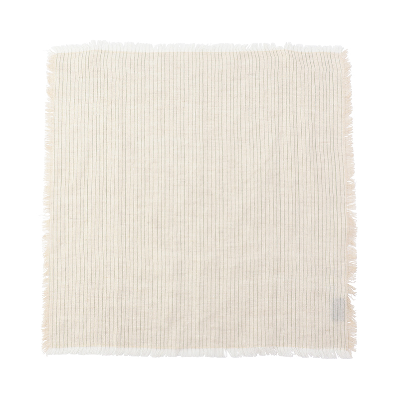 FRAYED STRIPE NAPKIN MINT 45X45