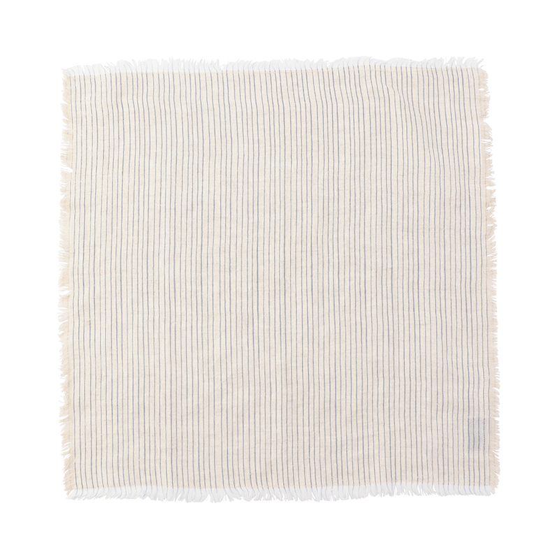 FRAYED STRIPE NAPKIN BLUE 45X45