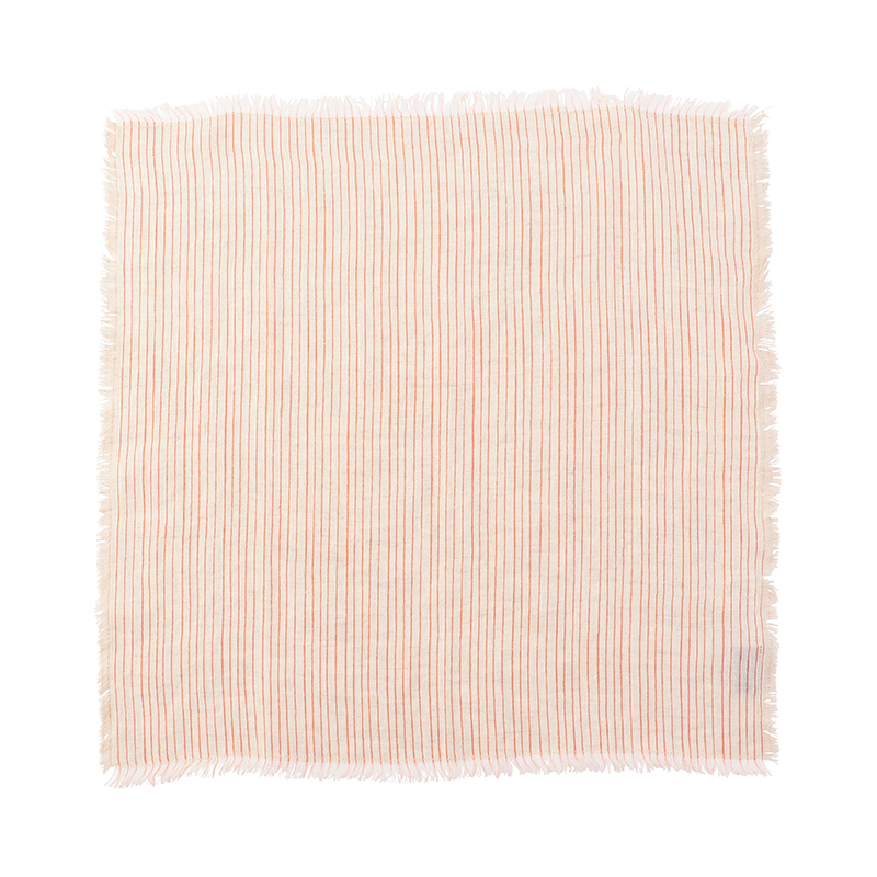FRAYED STRIPE NAPKIN ORANGE 45X45