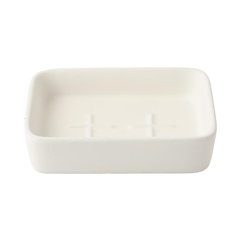 CERAMIC SOAP DISH MATT CREAM