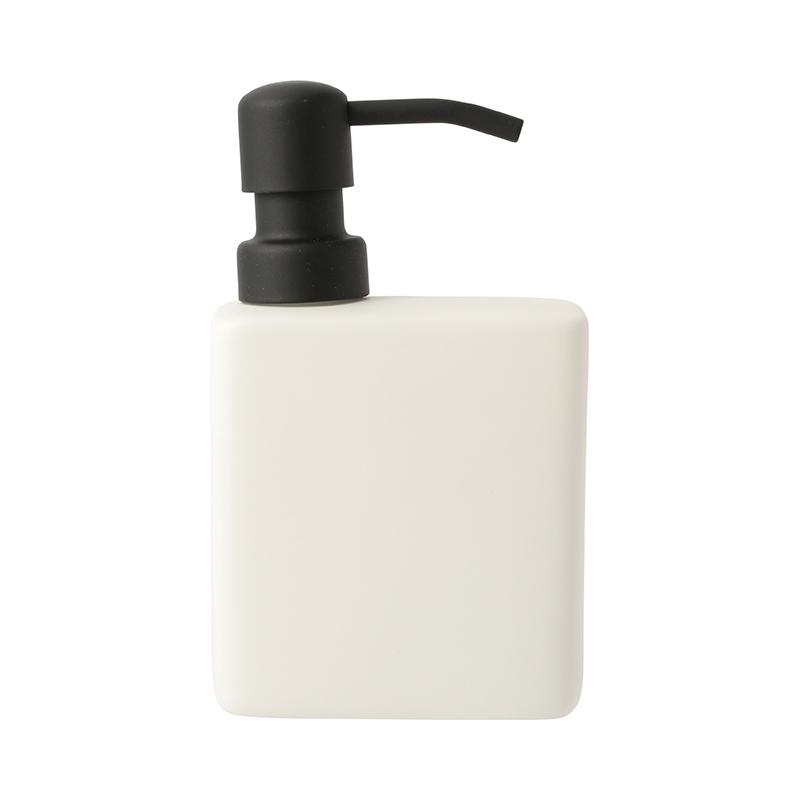 CERAMIC SOAP PUMP MATT CREAM