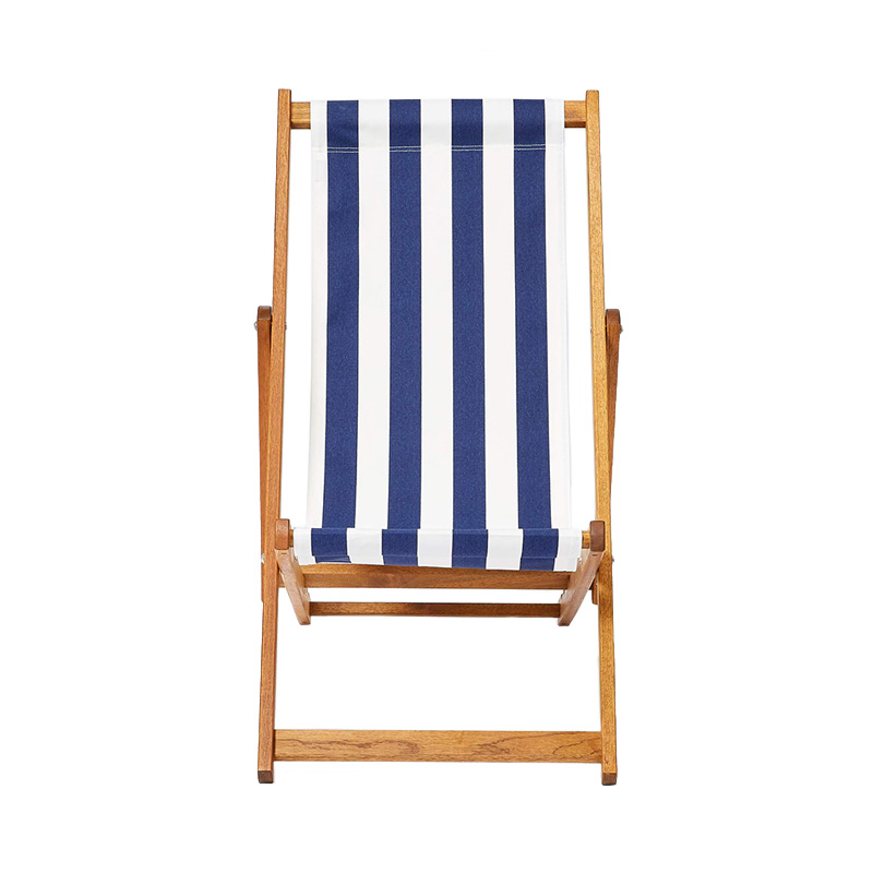 NAVY STRIPE DECK CHAIR