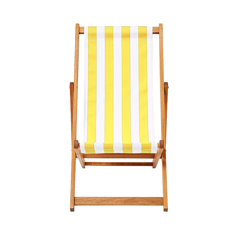 YELLOW STRIPE DECK CHAIR